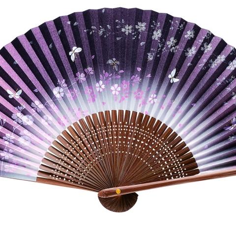 紙扇子 蝶桜 単品 474
