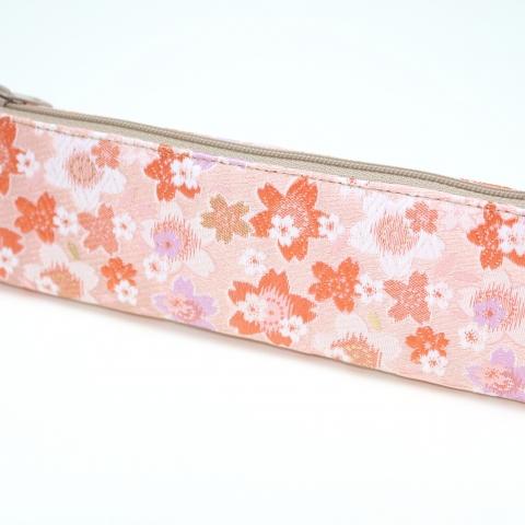 金襴ペンケース【陽だまり桜・ピンク】※クリックポスト利用可