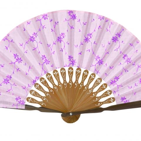 扇子 フロル【ピンク】扇袋セット 1121S