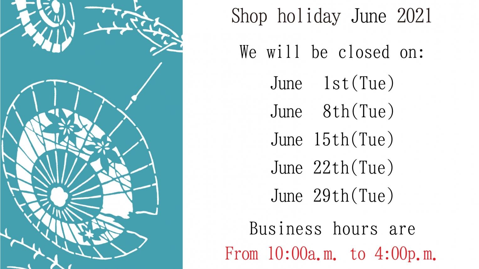 Regular holidays in june
