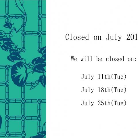 Regular holidays in July