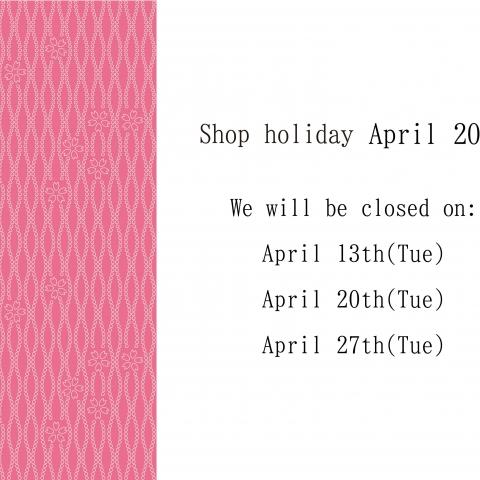Regular holidays in April